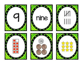 Numbers 1-10 Matching Cards