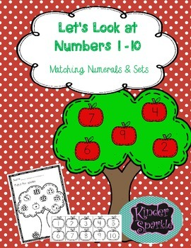 Numbers 1 -10 Matching Numerals & sets