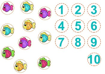 Numbers  1- 10 Matching Practice
