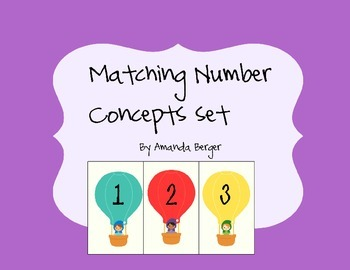 Numbers 1-10 Matching Words, numbers and amounts