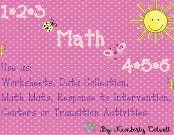 Numbers 1-10 Math Mats/Worksheet Packet