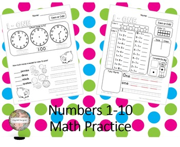 Numbers 1-10 Math Practice