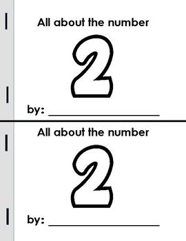 Numbers 1-10 Mini Books!