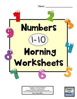 Numbers (1-10) Morning Worksheets