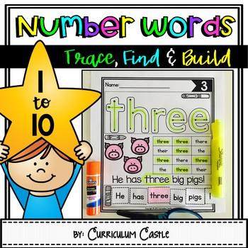 Numbers 1-10: Number Word Activities