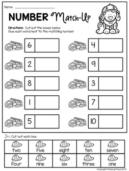 Number Words Match-Up Activity {Numbers 1-10} by Polliwog ...
