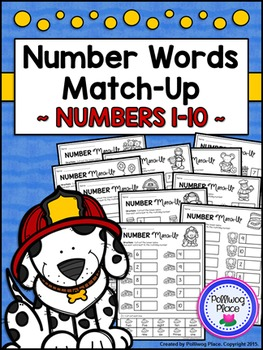 Number Words Match-Up Activity {Numbers 1-10}