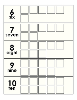 Numbers 1-10 One-to-One Quantity Matching