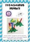 Numbers 1-10 Pegasaurus Number Activity