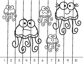 Numbers 1 - 10 Picture Unscramble