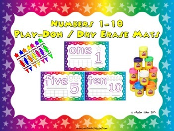 Numbers 1-10 Play-Doh / Dry Erase Mats