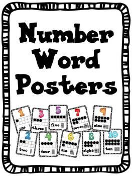 Numbers 1-10 Poster Displays