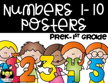 Numbers 1-10 Posters