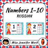 Numbers 1-10 Posters in Russian (Girl)