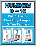 Ten Frames Number Posters with Counting Fingers (Finger Co