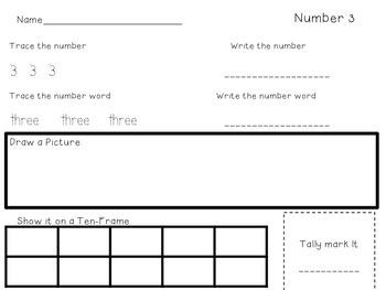 Numbers 1-10 Practice