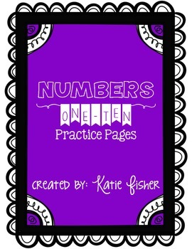 Numbers 1-10 Practice Pages