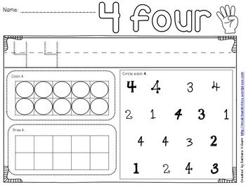 Numbers 1-10 Practice Sheets {FREE}