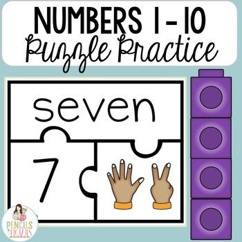 Numbers 1 - 10 - Puzzle Practice - Math Tools & Manipulatives