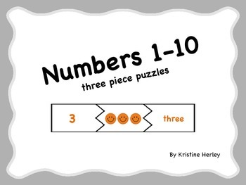 Numbers 1-10 Puzzles - Number Words