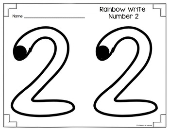 Numbers 1 10 Rainbow Write And Fill The