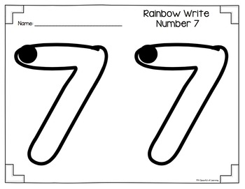 Numbers 1-10 Rainbow Write And Fill the Numbers
