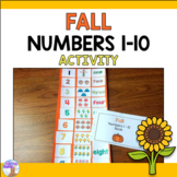 Numbers 1-10 Fall Activity