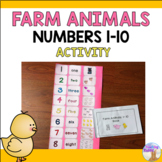 Numbers 1-10 Farm Animals Activity