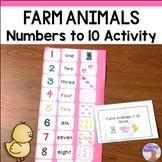 Numbers 1-10 Farm Animals Activity