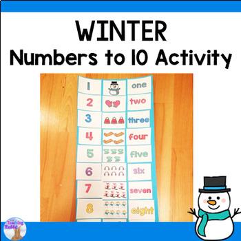 Numbers 1-10 Winter Activity