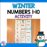 Numbers 1-10 Winter Cut & Paste Activity