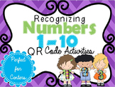 Numbers 1-10 Recognition using QR Codes: Math Centers (No Prep)