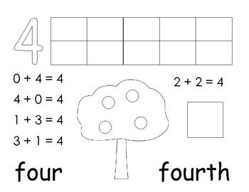 Numbers 1-10 Scrapbook