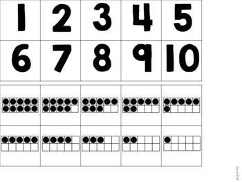 Numbers 1-10 Sensory Bin Activities