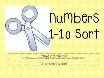 Numbers 1-10 Sort