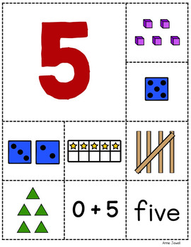 Numbers 1 – 10 Sorting Cards for Pre-K, Kindergarten, and 1st Grade