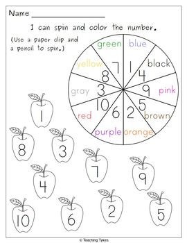 Numbers 1-10 Apples FREEBIE