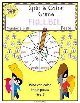 Numbers 1-10 Easter Peeps FREEBIE