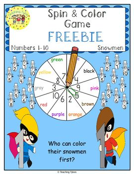 Numbers 1-10 Winter Snowman FREEBIE