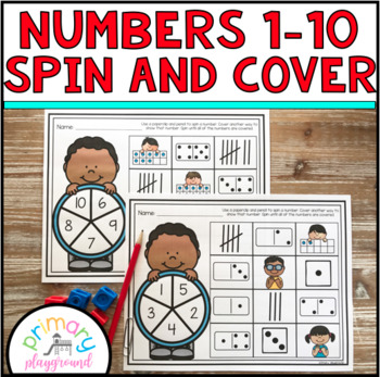 Numbers 1-10 Spin and Cover