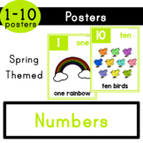 Numbers (1-10) - Spring Themed Posters