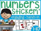 Numbers 1-10 Stickem' Sorts