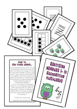 Numbers 1-10 Subitising/recognising numbers 1-10 automatically -flashcard games