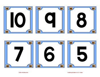 Numbers 1 - 10 Subitize
