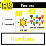 Numbers (1-10) - Summer Themed Posters
