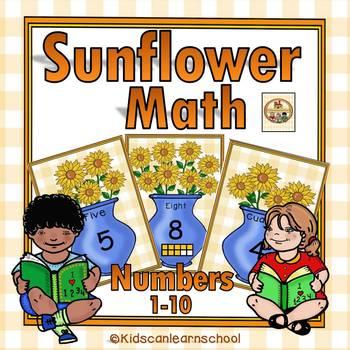 Numbers 1-10- Sunflower Math-Bilingual