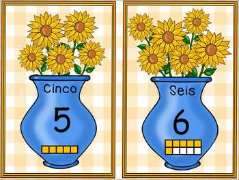 Numbers 1-10- Sunflower Math-BILINGUAL