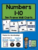 Numbers 1-10 Ten Frame Wall Charts