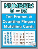 Ten Frames Activities Number Cards & Counting Fingers 0-10