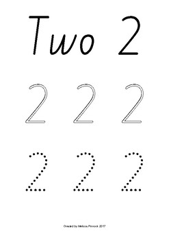 Numbers 1-10 Tracing (Outline & Dots) NSW Foundation Print